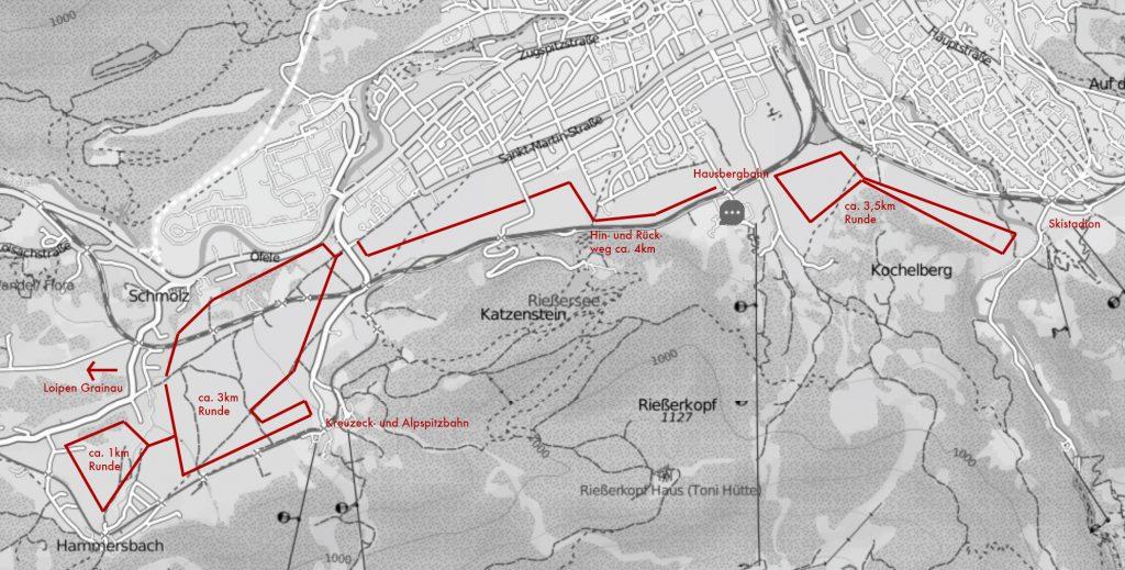 Loipenplan Garmisch